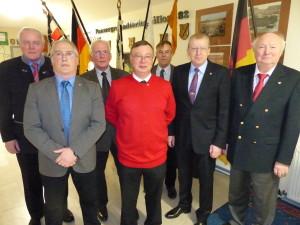 Vorstand 2016 mit Ehrenvorsitzenden