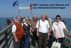 2007 3  Auf der Seebrücke im Boltenhagen